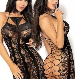 Zwart net jurkje Elisabet