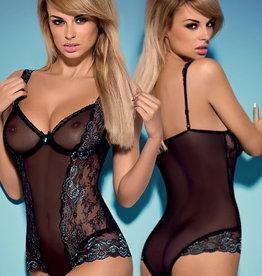 * OBSESSIVE Zwart met turquoise body Amanta