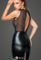 * NOIR handmade Wetlook Mini jurk met borduursel en tulle delen  van Noir Handmade - MissBeHaved Collection