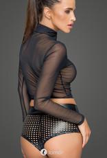 * NOIR handmade Tule top met ritssluiting van Noir Handmade MissBeHaved Collection