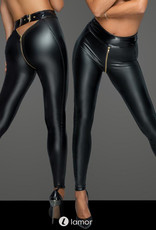 * NOIR handmade Wetlook legging met ritssluiting van Noir handmade MissBeHaved Collection