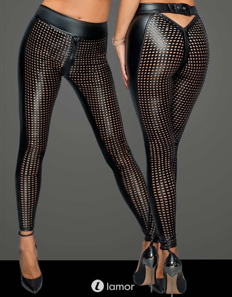 * NOIR handmade Lasercut legging met ritssluiting