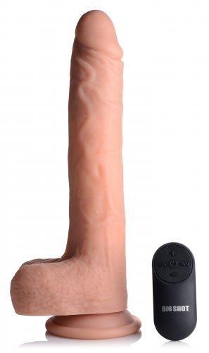Big Shot Vibrerende & Stotende Realistische XL Dildo met Zuignap en Ballen -16.5 cm