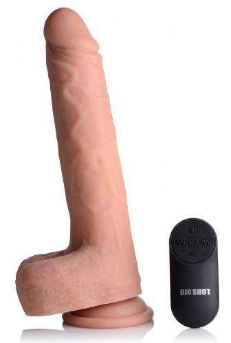 Big Shot Vibrerende & Stotende Realistische XL Dildo Met Balzak - 17.8 cm