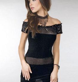 * LIVCO CORSETTI Zwart jurkje Diamond lust