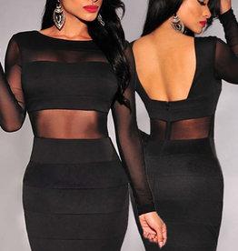 Zwart bodycon jurk