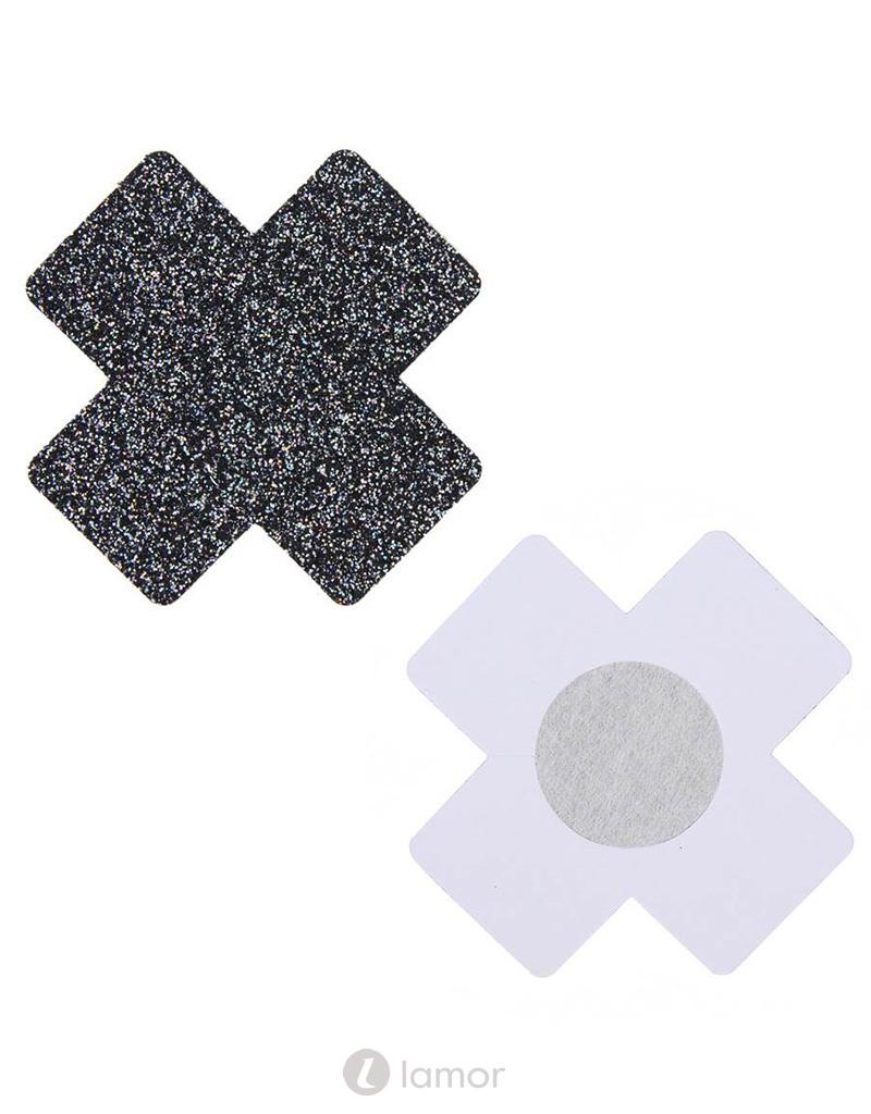 Zwarte glitter X tepelplakkers