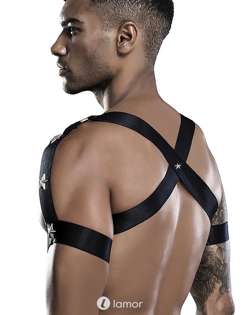 Heren Harnas outfit van elastische banden - Saresia
