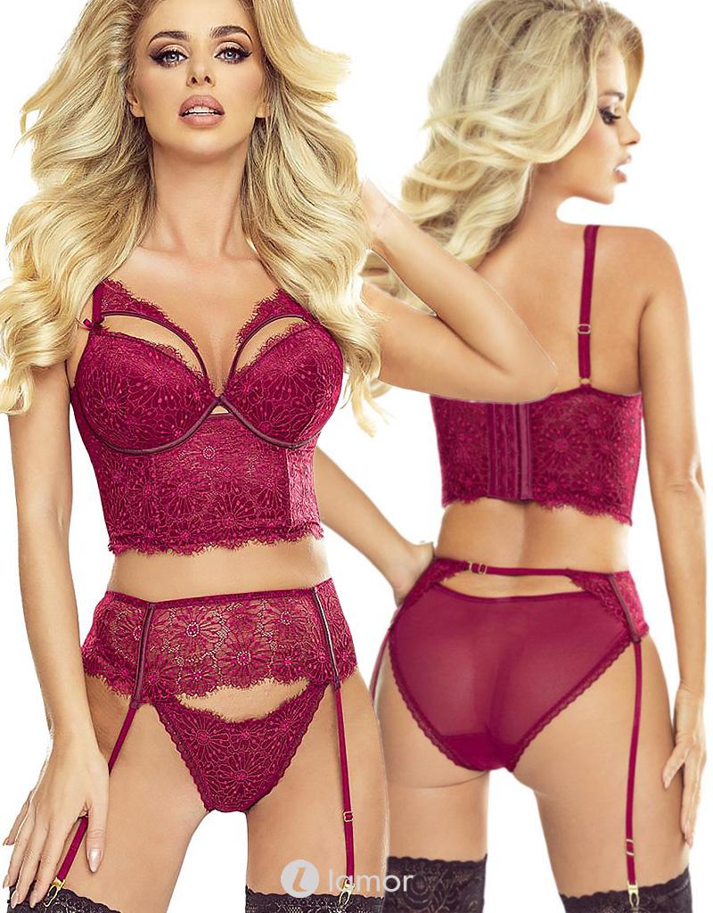 * PROVOCATIVE 2-delige Rode lingerie set Glamour