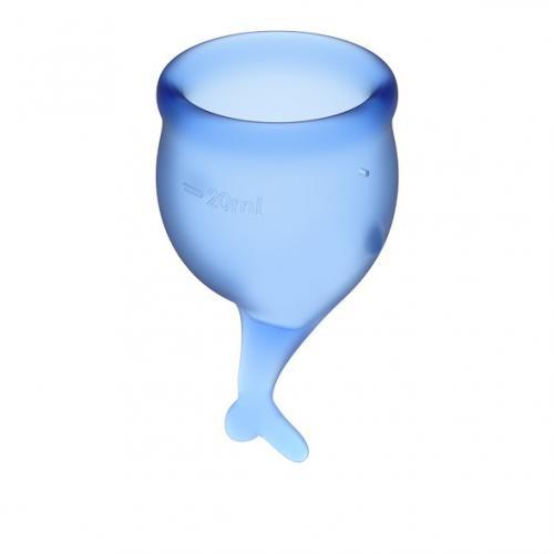 Satisfyer Feel Secure Menstruatie Cup Set - Blauw