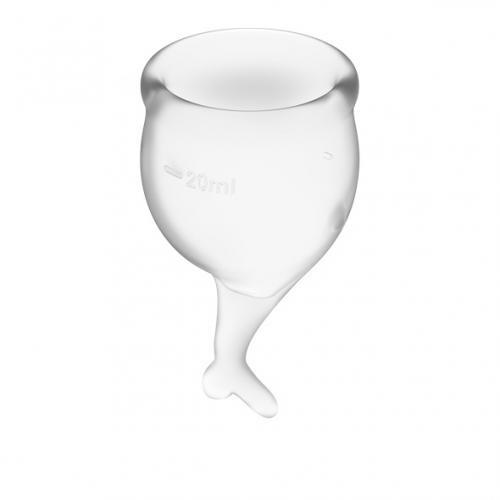 Satisfyer Feel Secure Menstruatie Cup Set - Transparant