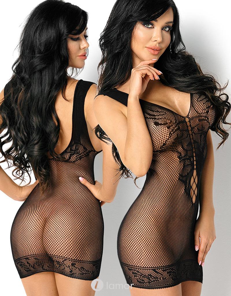 Zwart net jurkje Brendal