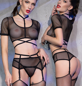 * CHILIROSE Sexy 4-delige fishnet set