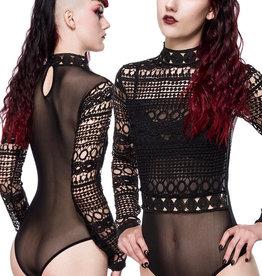 Zwarte kanten Gothic body