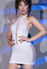 * CHILIROSE Wit halter mini jurkje CR-4397-W van Chilirose