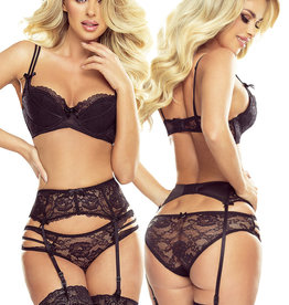 * PROVOCATIVE 2-delige zwarte lingerie set Reine de Séduction