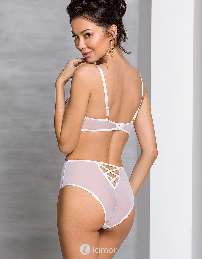 2-delige witte lingerie set  Lovelia set van Passion
