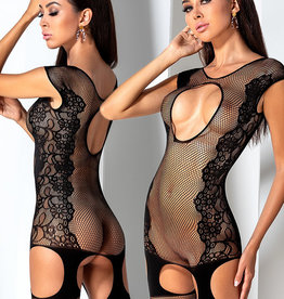 Zwarte bodystocking Alma