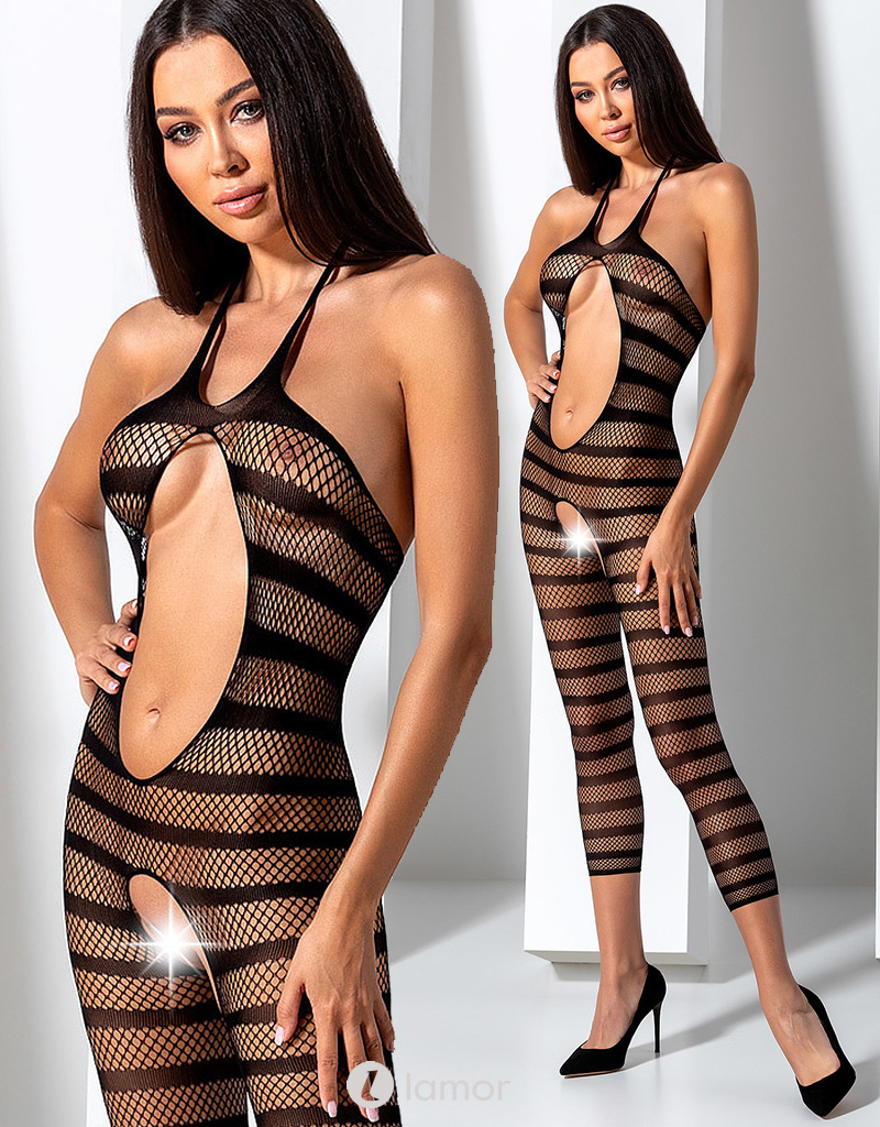Zwarte bodystocking Meva van Passion
