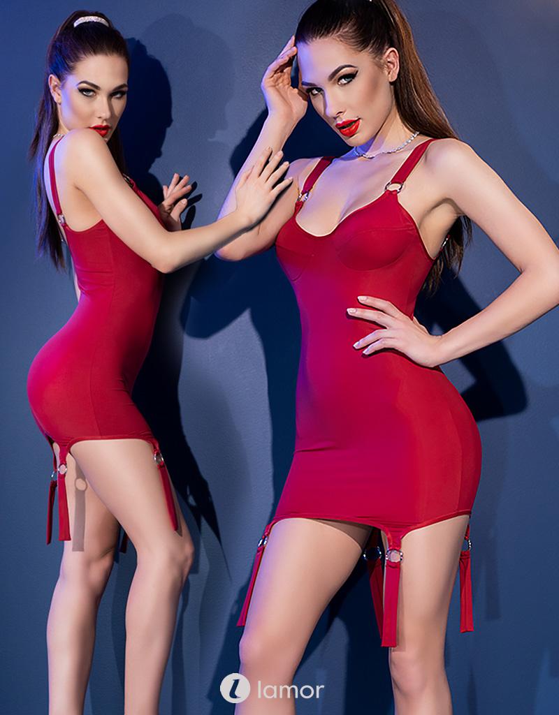 * CHILIROSE Rood mini jurkje