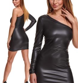 * DEMONIQ Zwarte  asymmetrische  jurk Felicia