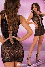 * LIVCO CORSETTI Gewaagd sexy zwart netjurkje Loys van Livco Corsetti