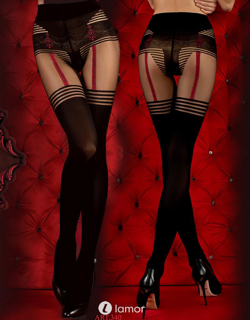 Zwarte rode panty Chenoah