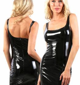 Zwart vinyl jurkje