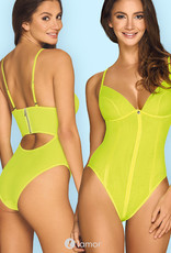 * OBSESSIVE Adembenemende  Neon gele body Neonia van Obsessive
