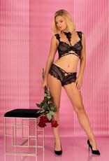 * LIVCO CORSETTI Verleidelijke zwarte lingerie set, Palmenom van livco Corsetti