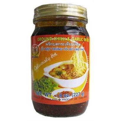 Double Seahorse Gemalen chili en knoflook in olie