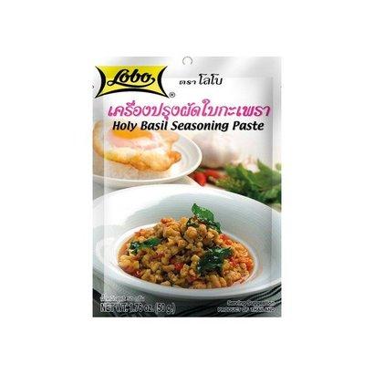 Lobo Thaise hete basilicum pasta