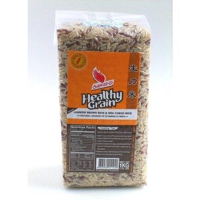 Sawat Bruine - en rode rijst