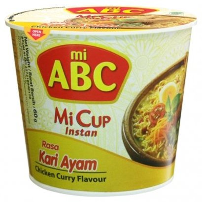 ABC Instant cup noedel kip/curry smaak