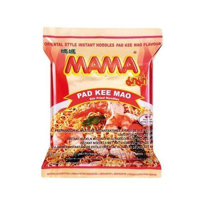 Mama Instant noedel Pad Kee Mao smaak