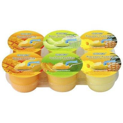 Cocon Pudding met fruitstukjes