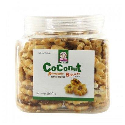 Dolly's Gevulde biscuits met kokos en ananasvulling