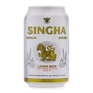 Singha 5% Thaise singha bier blik 330ml 1+1 FREE