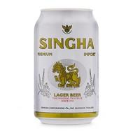 Singha 5% Thaise singha bier blik 330ml  THT 02/03/2021