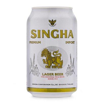 Singha 5% Thaise singha bier blik 330ml