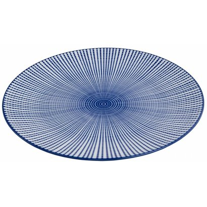 Bord 27cm Tokusa blauw china