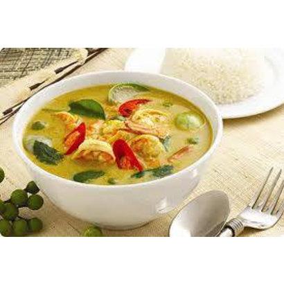 Recepten Groene curry met mesvis