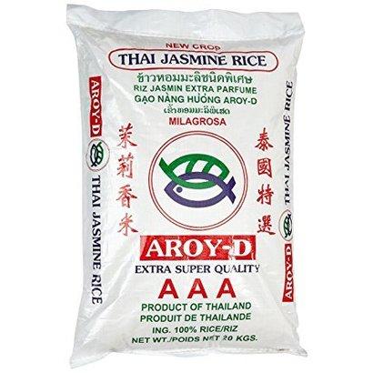 Aroy-D Thais geparfumeerde rijst heel 20kg