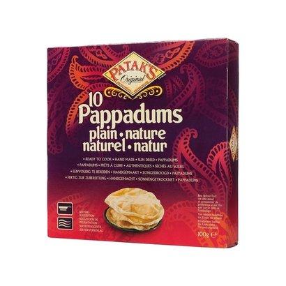 Patak's  Pappadum Naturel 100g