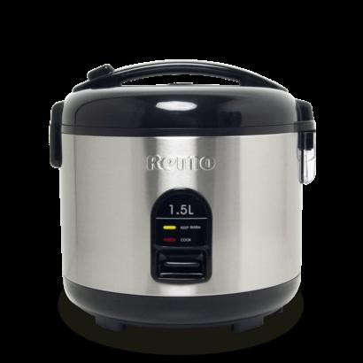 Remo Electrische rijstkoker 1,5L RVS teflon