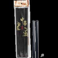 Eetstokjes melamine zwart 10paar 26.5cm