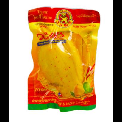 Woraporn Snack gepekelde mango met chilli 180g
