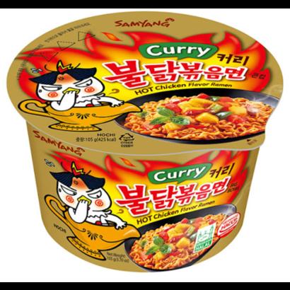 Samyang Instant noedel Hete kippensmaak BIG Bowl CURRY 105g