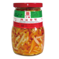 Six Fortune Gezouten bamboe in chilli olie 375g
