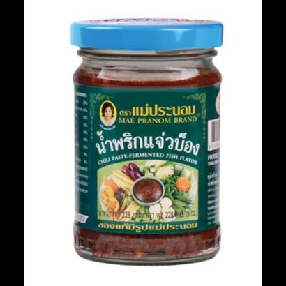Mae Pranom Namprik Chilli pasta met vis (namprik cheawbong)